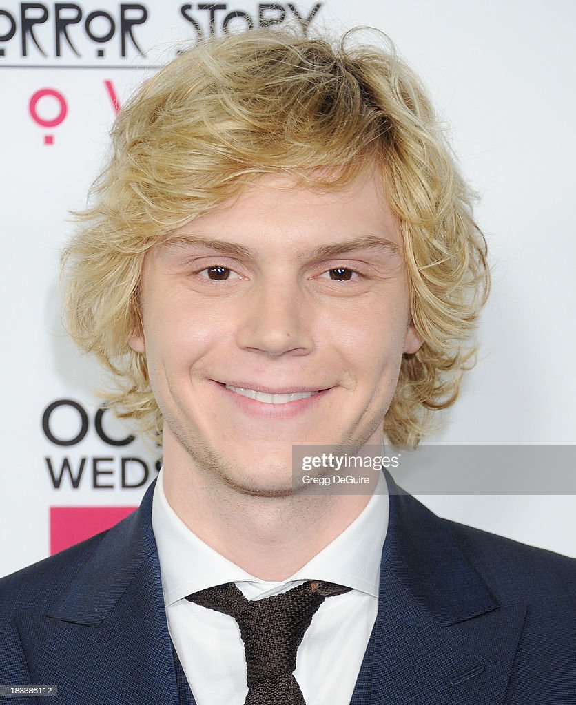 Actor <a gi-track='captionPersonalityLinkClicked' href=/galleries/search?phrase=Evan+Peters&family=editorial&specificpeople=2301160 ng-click='$event.stopPropagation()'>Evan Peters</a> arrives at the Los Angeles premiere of FX's 'American Horror Story: Coven' at Pacific Design Center on October 5, 2013 in West Hollywood, California.