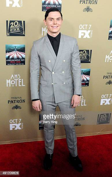Actor Evan Peters arrives at the performs at American Of FX's 'American Horror Story Hotel' at Regal Cinemas LA Live on October 3 2015 in Los Angeles...