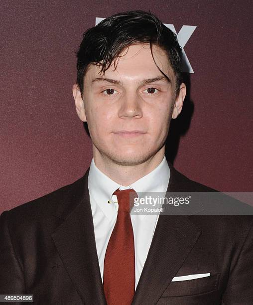 Actor Evan Peters arrives at the Premiere Of FOX TV's 'Scream Queens' at The Wilshire Ebell Theatre on September 21 2015 in Los Angeles California