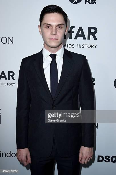 Actor Evan Peters attends amfAR's Inspiration Gala Los Angeles at Milk Studios on October 29 2015 in Hollywood California
