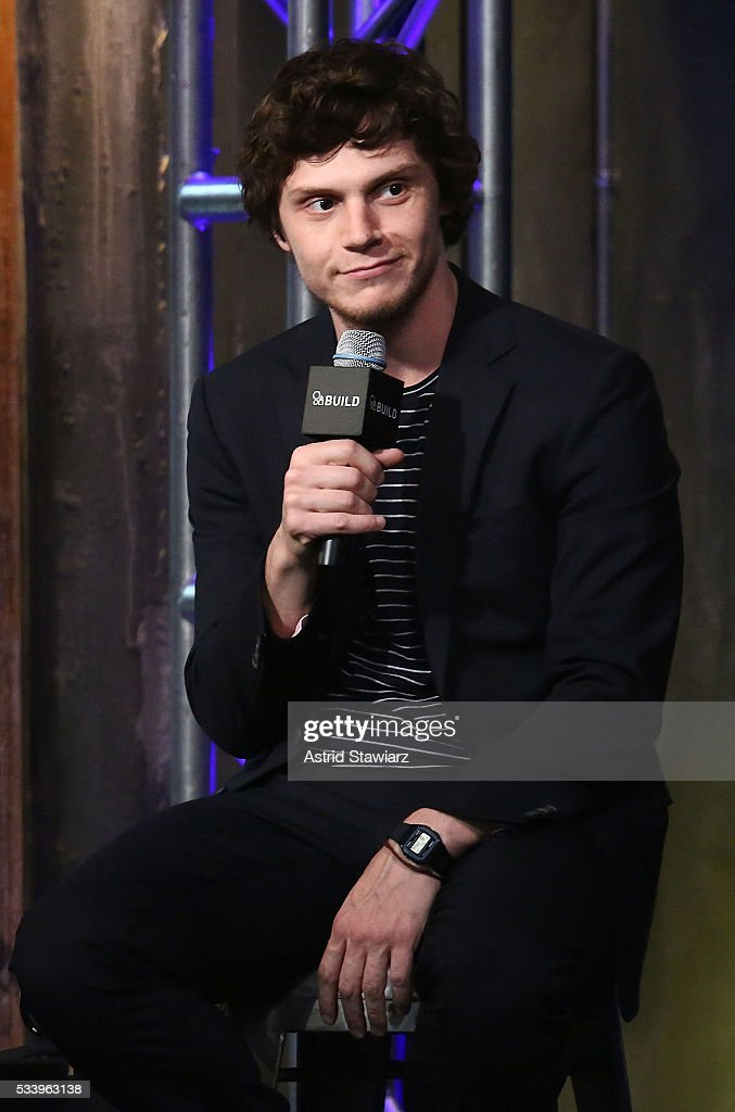 Actor <a gi-track='captionPersonalityLinkClicked' href=/galleries/search?phrase=Evan+Peters&family=editorial&specificpeople=2301160 ng-click='$event.stopPropagation()'>Evan Peters</a> attends AOL Build Presents: The Cast Of 'X-Men: Apocalypse' at AOL Studios In New York on May 24, 2016 in New York City.