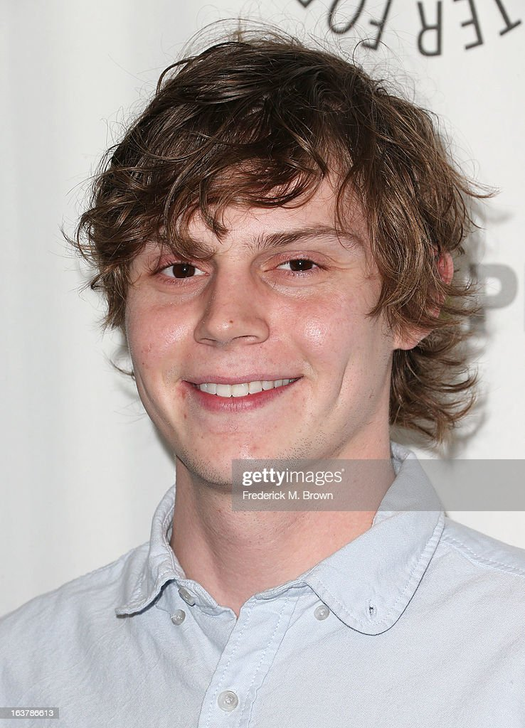 Actor <a gi-track='captionPersonalityLinkClicked' href=/galleries/search?phrase=Evan+Peters&family=editorial&specificpeople=2301160 ng-click='$event.stopPropagation()'>Evan Peters</a> attends The Paley Center For Media's PaleyFest 2013 Honoring 'American Horror Story: Asylum' at the Saban Theatre on March 15, 2013 in Beverly Hills, California.