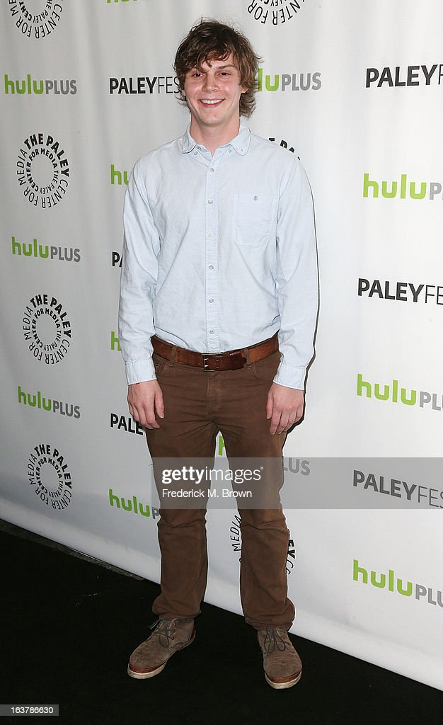Actor Evan Peters attends The Paley Center For Media's PaleyFest 2013 Honoring 'American Horror Story: Asylum' at the Saban Theatre on March 15, 2013 in Beverly Hills, California.