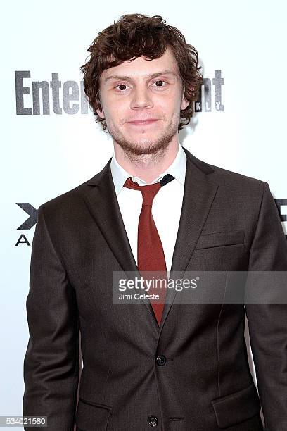 Actor Evan Peters attends the special screening of 'XMEN Apocalypse' at Entertainment Weekly on May 24 2016 in New York City