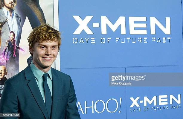 Actor Evan Peters attends the 'XMen Days Of Future Past' world premiere at Jacob Javits Center on May 10 2014 in New York City