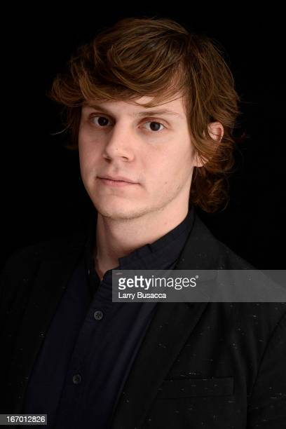 Actor Evan Peters of the film 'Adult World' attends the Tribeca Film Festival 2013 portrait studio on April 19 2013 in New York City