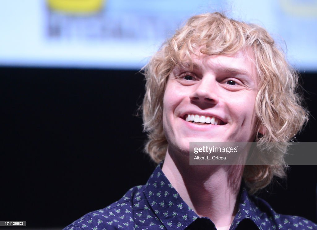 Actor <a gi-track='captionPersonalityLinkClicked' href=/galleries/search?phrase=Evan+Peters&family=editorial&specificpeople=2301160 ng-click='$event.stopPropagation()'>Evan Peters</a> speaks at the 20th Century Fox panel during Comic-Con International 2013 at San Diego Convention Center on July 20, 2013 in San Diego, California.