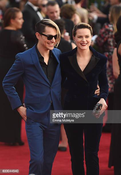 Actor Evan Rachel Wood and Zach Villa of Rebel and a Basketcase attend The 23rd Annual Screen Actors Guild Awards at The Shrine Auditorium on January...