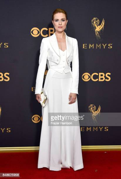 Actor Evan Rachel Wood attends the 69th Annual Primetime Emmy Awards at Microsoft Theater on September 17 2017 in Los Angeles California