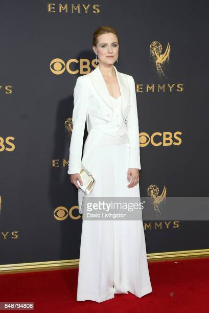 Actor Evan Rachel Wood attends the 69th Annual Primetime Emmy Awards Arrivals at Microsoft Theater on September 17 2017 in Los Angeles California