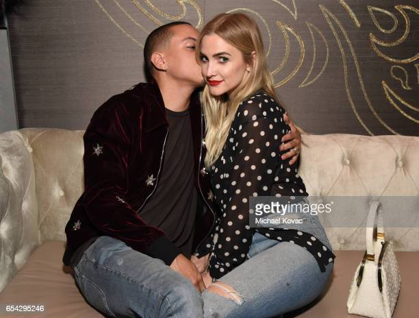 Actor Evan Ross and singer Ashlee Simpson attend day one of TAO Beauty Essex Avenue Luchini LA Grand Opening on March 16 2017 in Los Angeles...