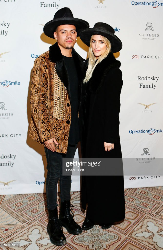 Actor Evan Ross (L) and singer Ashlee Simpson attend Operation Smile's Celebrity Ski & Smile Challenge Presented by the Rodosky Family on March 11, 2017 in Park City, Utah.