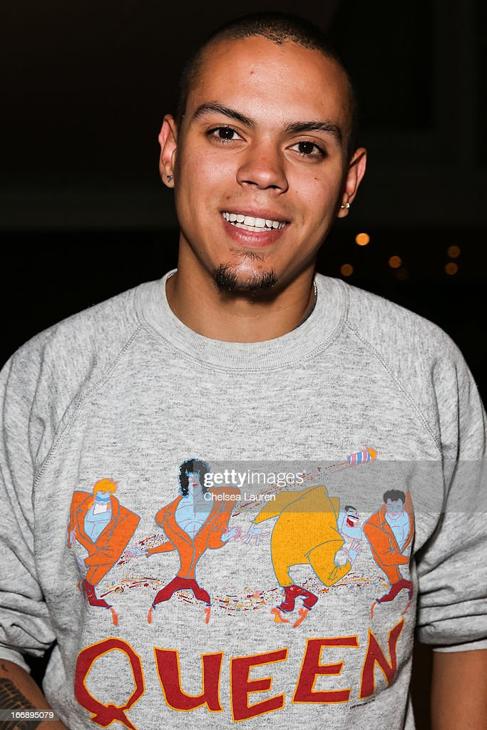 Actor <a gi-track='captionPersonalityLinkClicked' href=/galleries/search?phrase=Evan+Ross&family=editorial&specificpeople=711885 ng-click='$event.stopPropagation()'>Evan Ross</a> attends the 'Visual Harmony' exhibit of Graham Nash opening at Morrison Hotel Gallery on April 17, 2013 in West Hollywood, California.