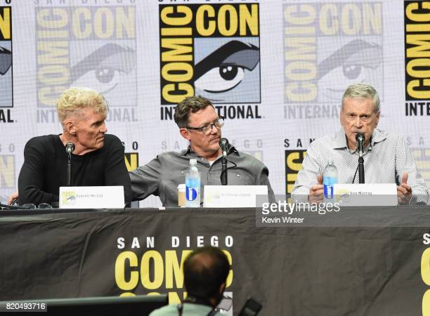 Actor James Marshall Everett McGill and Matthew Lillard attend 'Twin Peaks A Damn Good Panel' during ComicCon International 2017 at San Diego...
