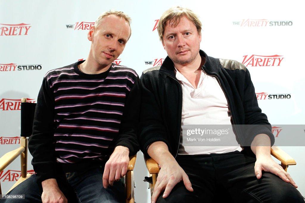Actor Ewan Bremmer and director David Mackenzie attend the Variety Studio At Sundance on January 24 2011 in Park City Utah