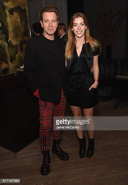 Actor Ewan McGregor and Clara McGregor attend the Sony Pictures Classics' 'Miles Ahead' after party hosted by The Cinema Society with Ketel One and...