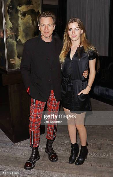 Actor Ewan McGregor and daughter Clara Mathilde McGregor attends The Cinema Society with Ketel One and Robb Report host a screening of Sony Pictures...