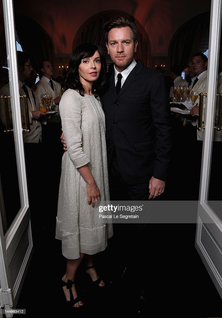 Actor Ewan McGregor and Eve Mavrakis attend the exclusive Filmmakers Dinner during the Cannes International Film Festival hosted by Swiss watch manufacturer IWC Schaffhausen in partnership with Finch's Quarterly Review at the famous Hotel du Cap-Eden-Roc on May 21, 2012 in Cap d'Antibes, France.