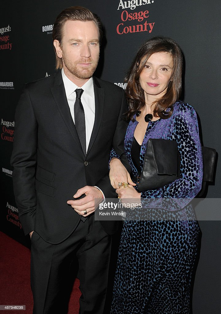 Actor <a gi-track='captionPersonalityLinkClicked' href=/galleries/search?phrase=Ewan+McGregor&family=editorial&specificpeople=202863 ng-click='$event.stopPropagation()'>Ewan McGregor</a> and <a gi-track='captionPersonalityLinkClicked' href=/galleries/search?phrase=Eve+Mavrakis&family=editorial&specificpeople=213940 ng-click='$event.stopPropagation()'>Eve Mavrakis</a> attend the premiere of The Weinstein Company's 'August: Osage County' at Regal Cinemas L.A. Live on December 16, 2013 in Los Angeles, California.