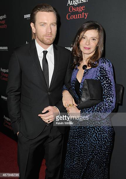Actor Ewan McGregor and Eve Mavrakis attend the premiere of The Weinstein Company's 'August Osage County' at Regal Cinemas LA Live on December 16...