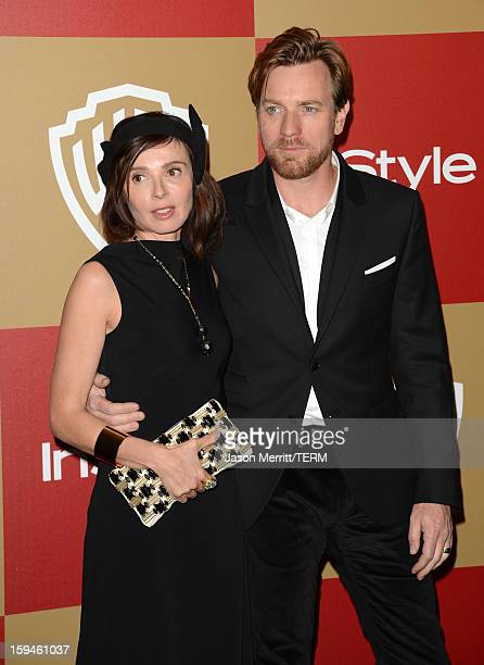 Actor Ewan McGregor and wife Eve Mavrakis attend the 14th Annual Warner Bros And InStyle Golden Globe Awards After Party held at the Oasis Courtyard...