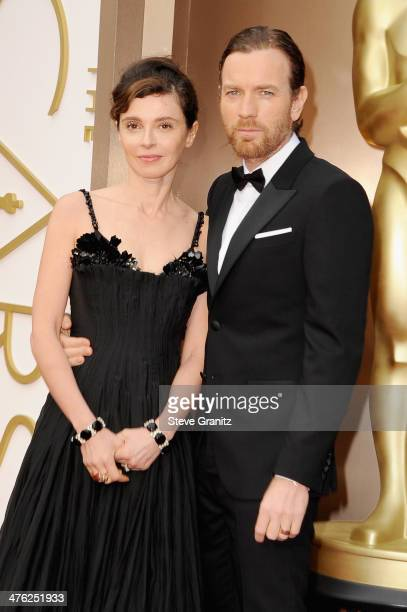 Actor Ewan McGregor and wife Eve Mavrakis attend the Oscars held at Hollywood Highland Center on March 2 2014 in Hollywood California