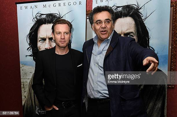 Actor Ewan McGregor and writer/director Rodrigo Garcia arrive at a screening of Broad Green Pictures' 'Last Days In The Desert' at Laemmle Royal...