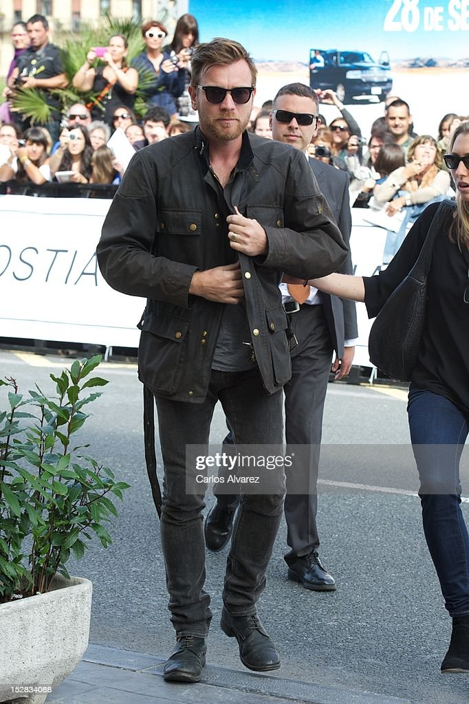 Actor Ewan McGregor arrives at the Maria Cristina Hotel during 60th San Sebastian International Film Festival on September 27, 2012 in San Sebastian, Spain.