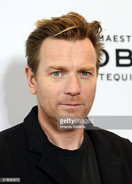Actor Ewan McGregor arrives at the premiere of Sony Pictures Classics' 'Miles Ahead' at the Writers Guild Theater on March 29 2016 in Beverly Hills...