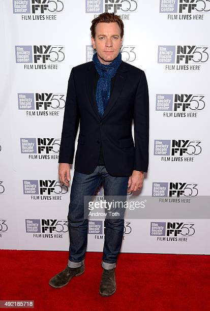 Actor Ewan McGregor attends 53rd New York Film Festival closing night gala screening of 'Miles Ahead' at Alice Tully Hall Lincoln Center on October...