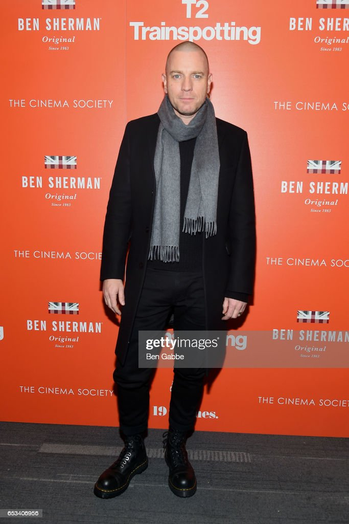 Actor Ewan McGregor attends a TriStar and Cinema Society screening of 'T2 Trainspotting' at Landmark Sunshine Cinema on March 14, 2017 in New York City.
