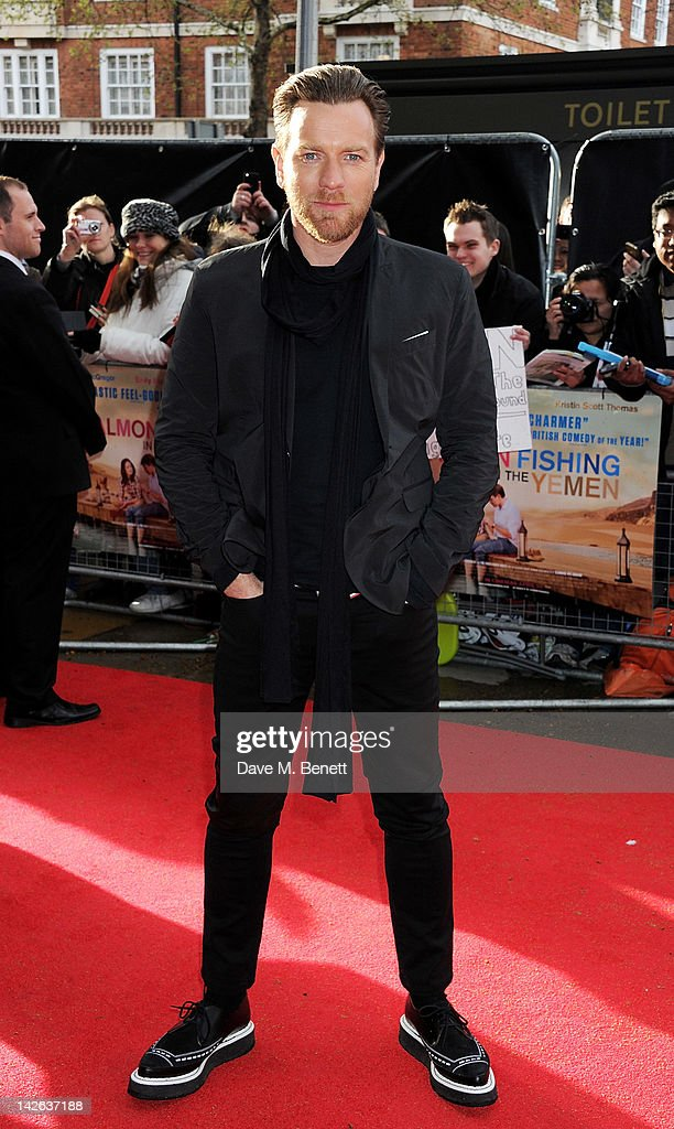 Actor Ewan McGregor attends the European Premiere of 'Salmon Fishing In The Yemen' at Odeon Kensington on April 10 2012 in London England