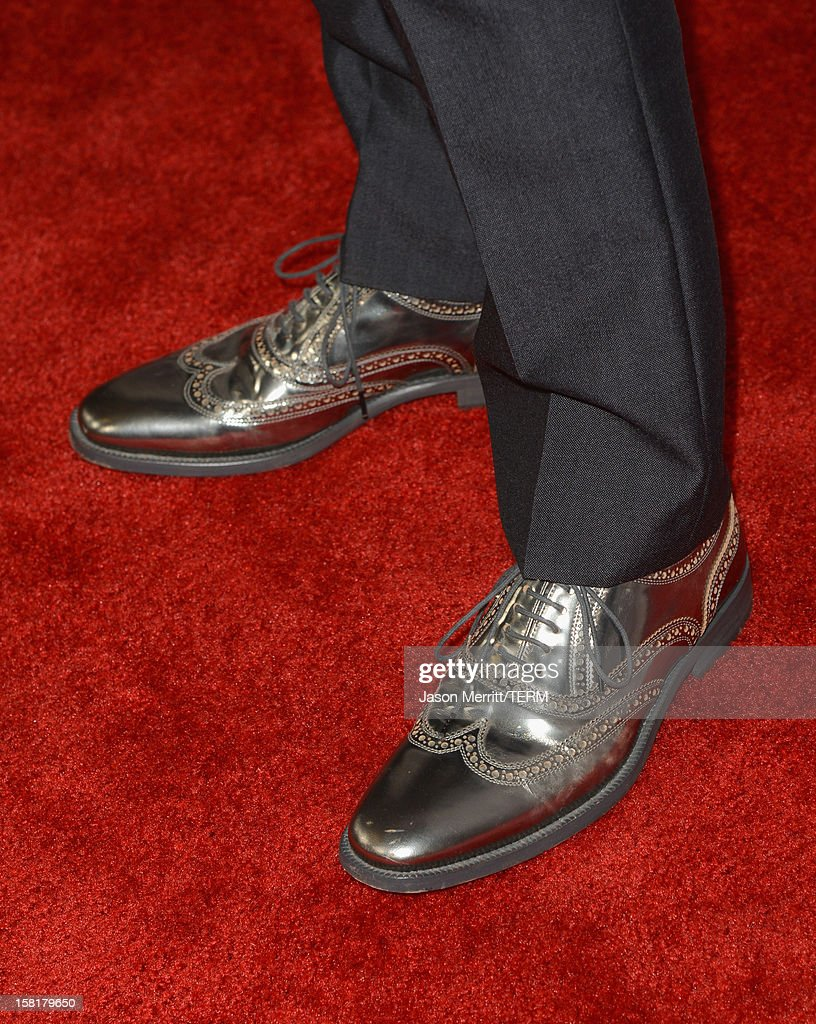 Actor Ewan McGregor (shoe detail) attends the Los Angeles premiere of Summit Entertainment's 'The Impossible' at ArcLight Cinemas Cinerama Dome on December 10, 2012 in Hollywood, California.
