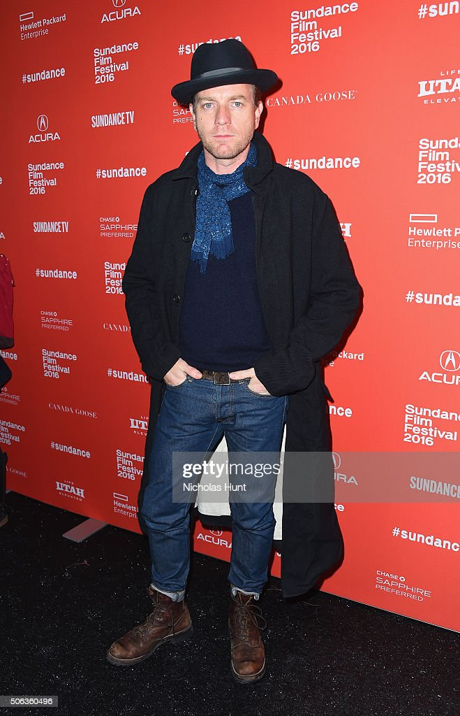 Actor Ewan McGregor attends the 'Miles Ahead' Premiere during the 2016 Sundance Film Festival at The Marc Theatre on January 22 2016 in Park City Utah