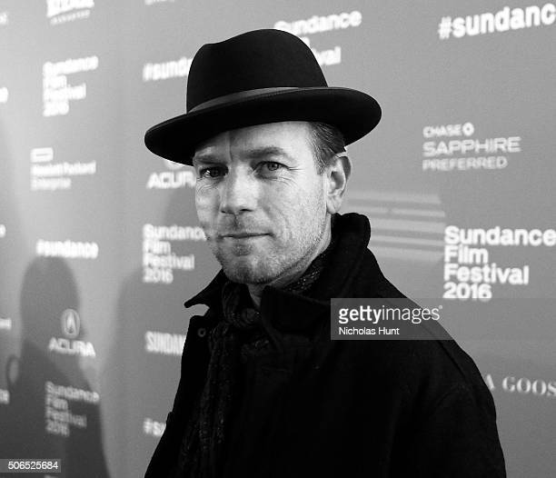 Image converted to black white Actor Ewan McGregor attends the 'Miles Ahead' Premiere during the 2016 Sundance Film Festival at The Marc Theatre on...
