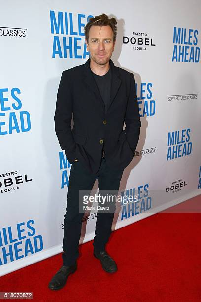 Actor Ewan McGregor attends the premiere of Sony Pictures Classics' 'Miles Ahead' at Writers Guild Theater on March 29 2016 in Beverly Hills...