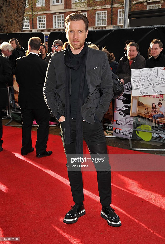 Actor Ewan McGregor attends the 'Salmon Fishing in the Yemen' European Premiere at the Odeon Kensington on April 10 2012 in London England