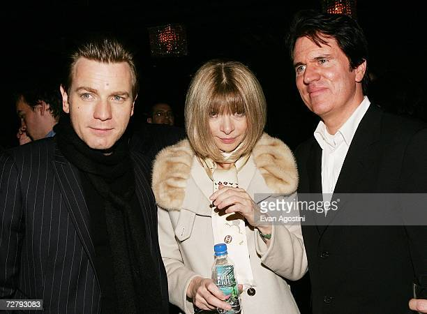 Actor Ewan McGregor Vogue Editor Anna Wintour and director Rob Marshall attend the 'Miss Potter' film premiere after party at The Grand December 10...