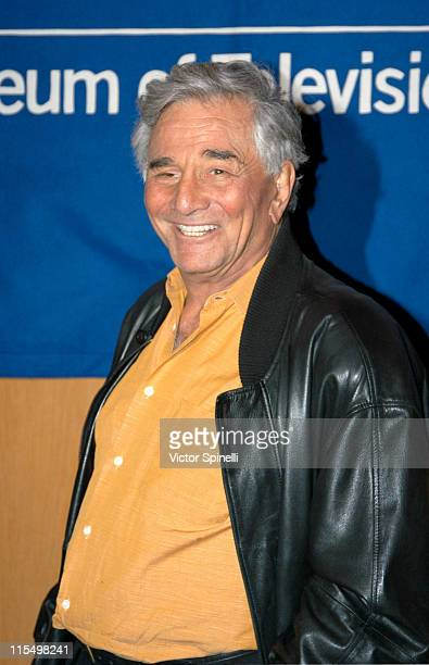 Actor / executive producer Peter Falk during The 20th Anniversary William S Paley Television Festival Presents 'Columbo' at Directors Guild of...