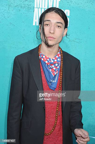 Actor Ezra Miller arrives at the 2012 MTV Movie Awards held at Gibson Amphitheatre on June 3 2012 in Universal City California