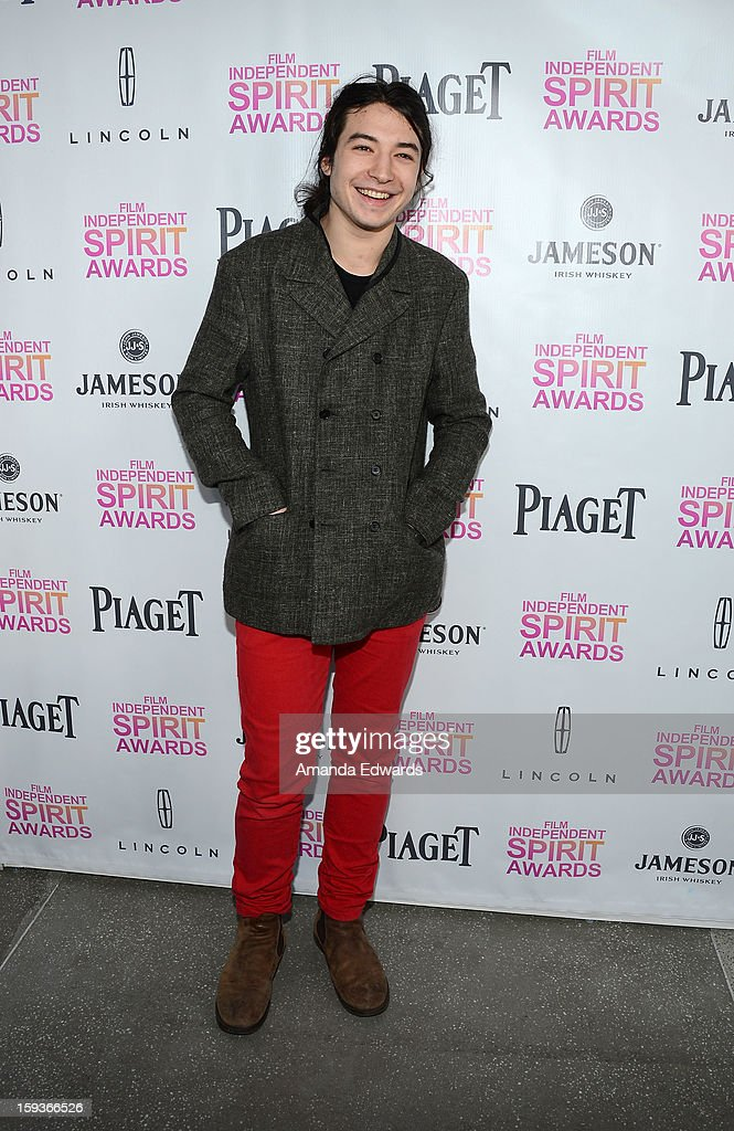 Actor Ezra Miller arrives at the 2013 Film Independent Filmmaker Grant And Spirit Awards Nominees Brunch at BOA Steakhouse on January 12, 2013 in West Hollywood, California.