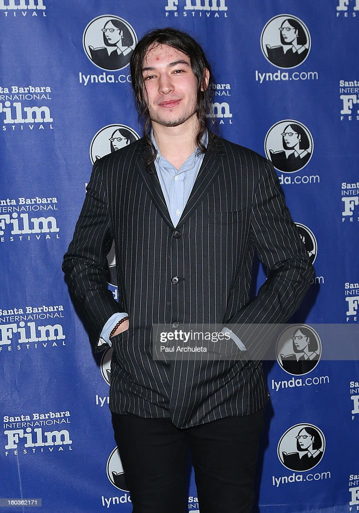 Actor <a gi-track='captionPersonalityLinkClicked' href=/galleries/search?phrase=Ezra+Miller&family=editorial&specificpeople=5348897 ng-click='$event.stopPropagation()'>Ezra Miller</a> attends the 28th Santa Barbara International Film Festival Virtuoso Award Ceremony at The Arlington Theatre on January 29, 2013 in Santa Barbara, California.