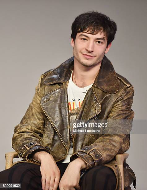 Actor Ezra Miller attends the Apple Store Soho presentation of Meet the Cast 'Fantastic Beasts And Where To Find Them' at Apple Store Soho on...