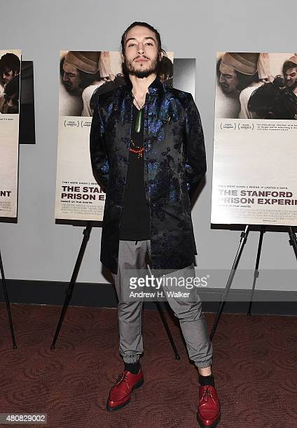 Actor Ezra Miller attends the New York premiere of 'The Stanford Prison Experiment' at Chelsea Bow Tie Cinemas on July 15 2015 in New York City