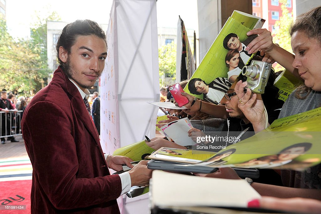 Actor <a gi-track='captionPersonalityLinkClicked' href=/galleries/search?phrase=Ezra+Miller&family=editorial&specificpeople=5348897 ng-click='$event.stopPropagation()'>Ezra Miller</a> attends 'The Perks Of Being A Wallflower' premiere during the 2012 Toronto International Film Festival at Ryerson Theatre on September 8, 2012 in Toronto, Canada.