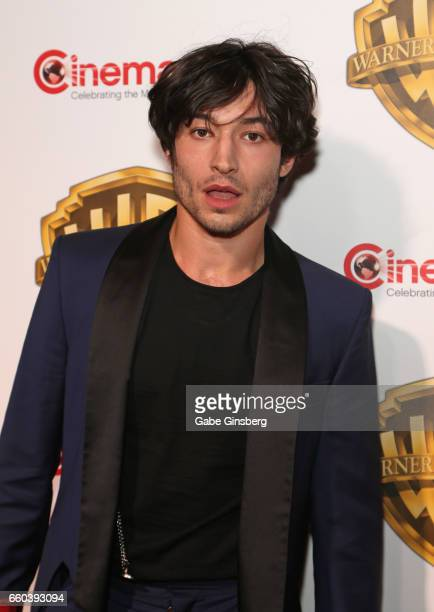 Actor Ezra Miller attends the Warner Bros Pictures presentation during CinemaCon at The Colosseum at Caesars Palace on March 29 2017 in Las Vegas...