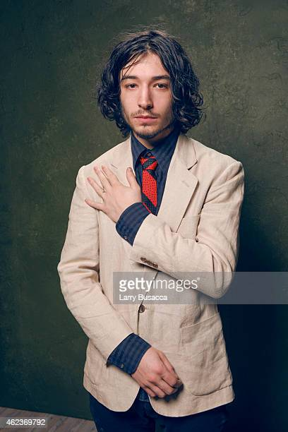 Actor Ezra Miller of 'The Stanford Prison Experiment' poses for a portrait at the Village at the Lift Presented by McDonald's McCafe during the 2015...
