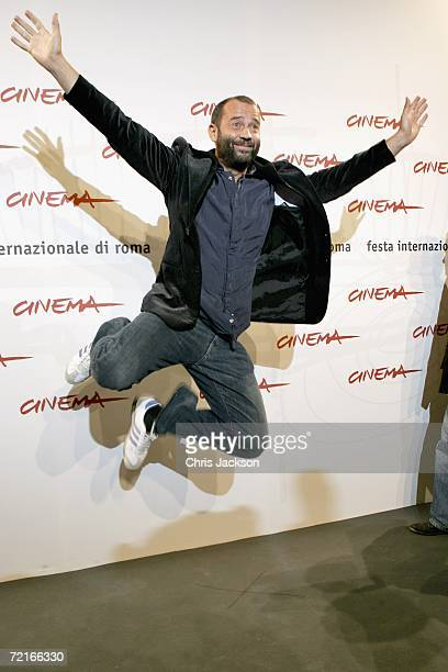 Actor Fabio Volo attends a photocall to promote the movie 'Uno Su Due' on the second day of Rome Film Festival on October 14 2006 in Rome Italy
