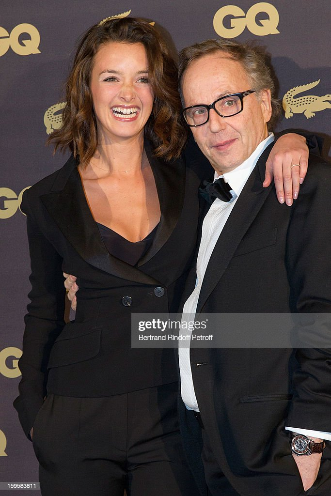 Actor <a gi-track='captionPersonalityLinkClicked' href=/galleries/search?phrase=Fabrice+Luchini&family=editorial&specificpeople=716653 ng-click='$event.stopPropagation()'>Fabrice Luchini</a>, GQ's Actor of the Year and Man of the Year (R), and actress <a gi-track='captionPersonalityLinkClicked' href=/galleries/search?phrase=Charlotte+Le+Bon&family=editorial&specificpeople=7162691 ng-click='$event.stopPropagation()'>Charlotte Le Bon</a>, GQ's Woman of the Year, attend the GQ Men of the year awards 2012 at Musee d'Orsay on January 16, 2013 in Paris, France.