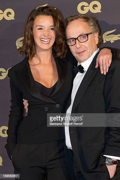Actor Fabrice Luchini GQ's Actor of the Year and Man of the Year and actress Charlotte Le Bon GQ's Woman of the Year attend the GQ Men of the year...